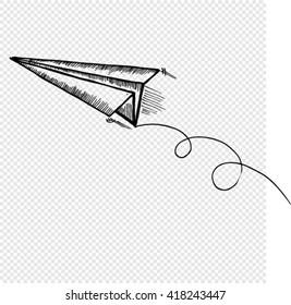 plane icon, sketch