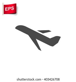 plane icon, vector airplane sign, isolated  travel symbol