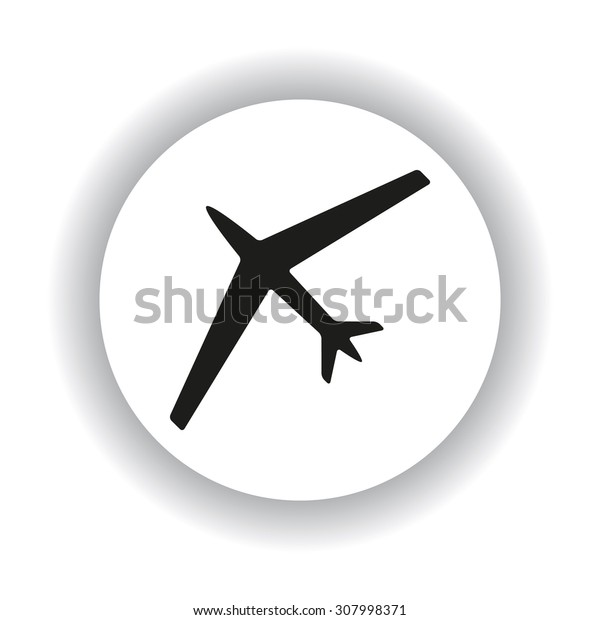 plane. icon. vector design