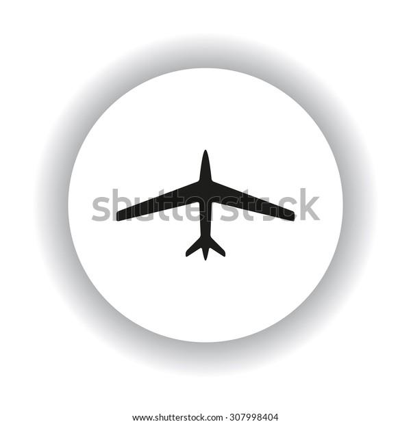 plane. icon. vector design