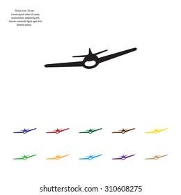 Plane icon, vector illustration. Flat design style