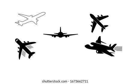 plane icon vector illustration sign design