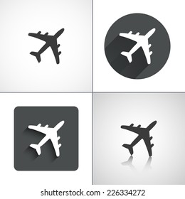 Plane icons. Set elements for design. Vector illustration.