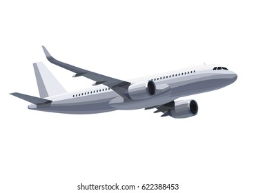 Plane isolated on white