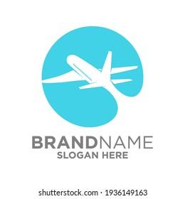 Plane Logo Design Template Inspiration, Vector Illustration, Flight.