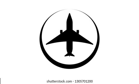 Plane logo vector design. Plane icon