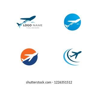 Plane logo vector template