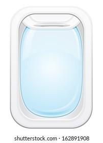 plane porthole vector illustration isolated on white background