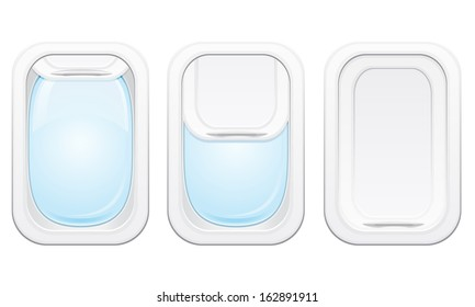 plane porthole vector illustration isolated on white background