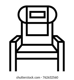 Plane Seat vector outline icon