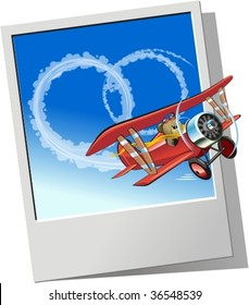 Plane sending wedding message. More vector airplanes see in my portfolio