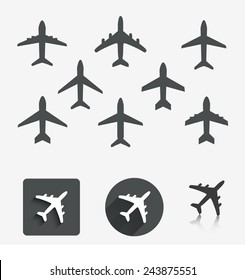 Plane set. Vector illustration.