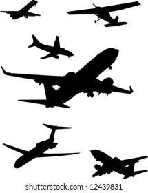 Plane silhouettes.