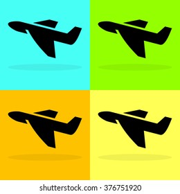Plane symbol Set Vector EPS10, Great for any use.