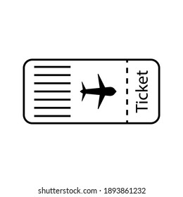 Plane ticket icon sign vector,Symbol, logo illustration for web and mobile color editable