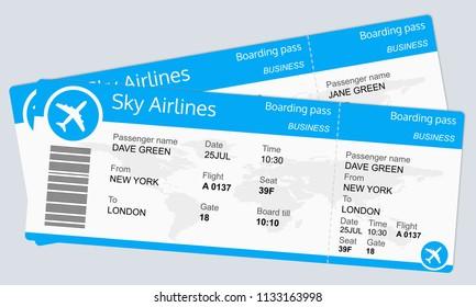plane ticket template airplane flight ticket stock vector royalty