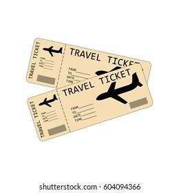 Plane tickets illustration on the white background. Vector illustration