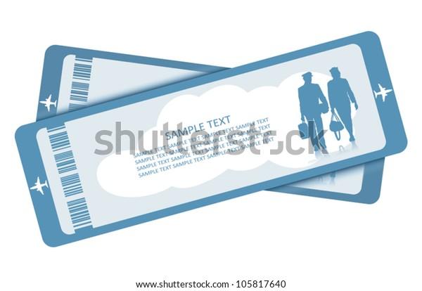 Plane tickets - vector illustration