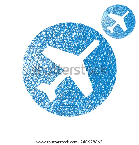 Plane Vector Simple Single Color Icon Stock Vector (Royalty Free ...