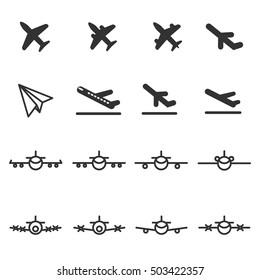 planes icons vector illustration icon set