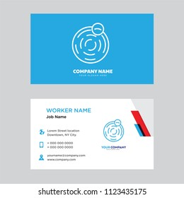 planet business card design template visiting for your company modern horizontal identity card vector