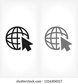 planet cursor icon vector