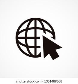 planet cursor icon vector