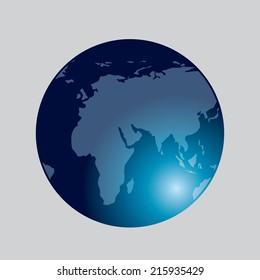 planet design over gray background vector illustration