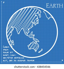 Blueprint australia images stock photos vectors shutterstock planet earth asia and australia blueprint malvernweather Images