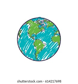 Planet earth geography