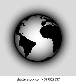 Planet Earth, globe, world icon.