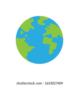 planet Earth icon. Flat planet Earth icon. on a white background. eps 10
