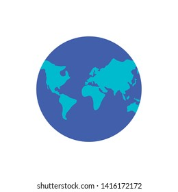 planet earth isolated icon vector ilustration