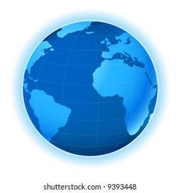 planet earth map; illustration