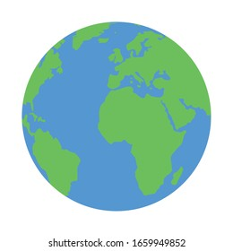 planet earth on white background vector illustration design