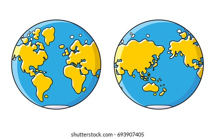 World map globe flat icon western vectores en stock 795297583 planet earth world map western and eastern globe hemisphere gumiabroncs Image collections