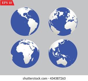 Planet globe Earth icon.Vector illustration