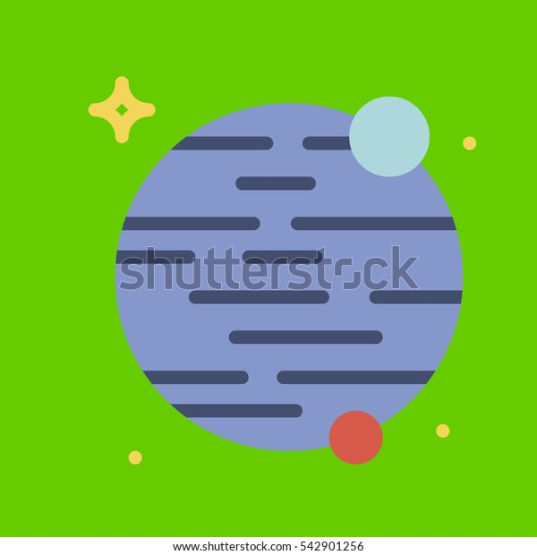 planet icon flat disign