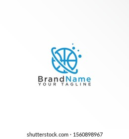 Planet logo design template vector