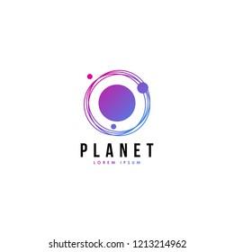 Planet logo vector. Planet logo template. Space logo vector