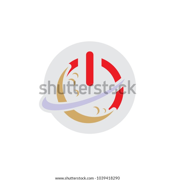 Planet Power Logo Icon Design