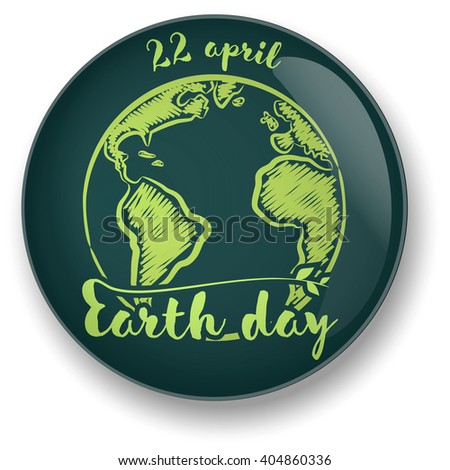 Planet Symbol Earth Day Stock Vector Royalty Free 404860336