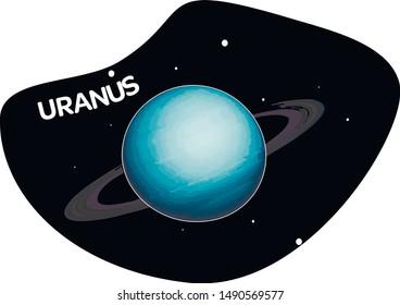 Planet Uranus vector, solar system