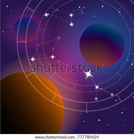 planets system vector illustration template on stock vector royalty