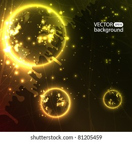 Planets - vector background