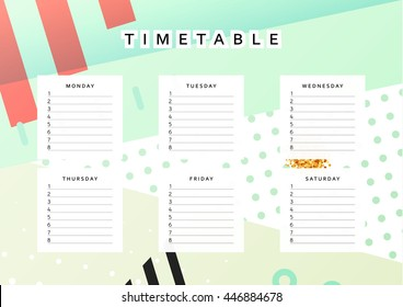 planner calendar schedule week abstract design stock illustration