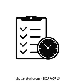 planning and clock icon