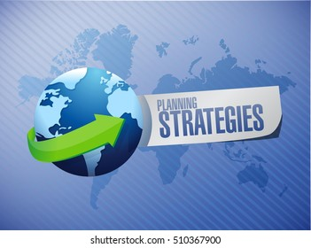 planning strategies global network sign concept illustration design graphic
