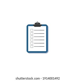 Planning Vector Illustration. Application form vector icon. Blank saymbol, Form icon, Check list, To do list vector illustration isolated on white background