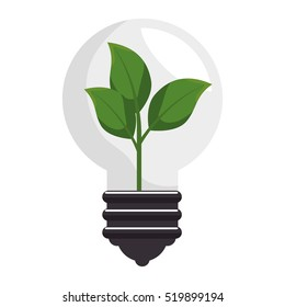 plant with bulb isolated icon